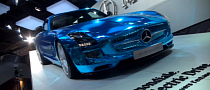 Chrome Blue SLS AMG Electric Drive: Ridiculous? [Video]