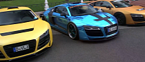 Chrome Blue Widebody 2013 Audi R8 by xXx-Performance [Video]