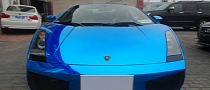 Blue Chrome Wrap Strikes Again - Lambo Gallardo from China