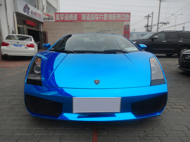 Blue Chrome Wrap Strikes Again Lambo Gallardo From China