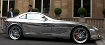 Chrome Brabus Mercedes SLR Mclaren Cruising London [Video]