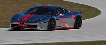 Chrome Ferrari 458 Challenge Spotted Racing