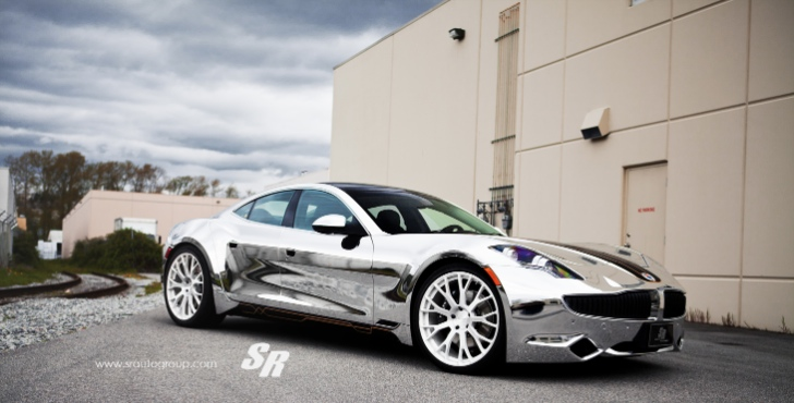 Chrome Fisker Karma on PUR Wheels [Photo Gallery]