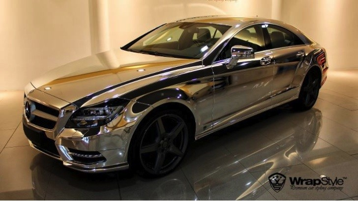 Chrome Mercedes CLS Looks Like the Silver Surfer
