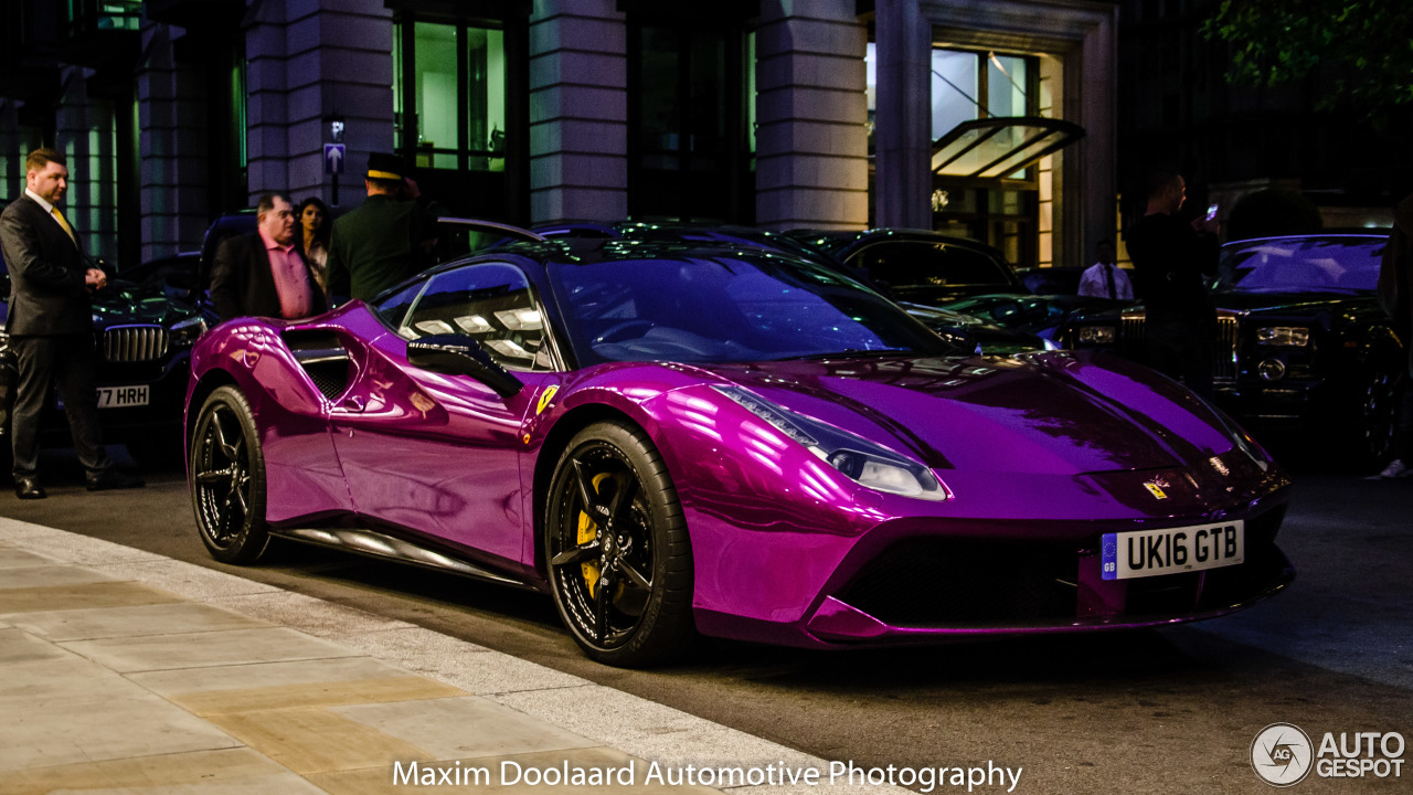 Chrome Purple Ferrari 488 Gtb Screams Out Its Performance