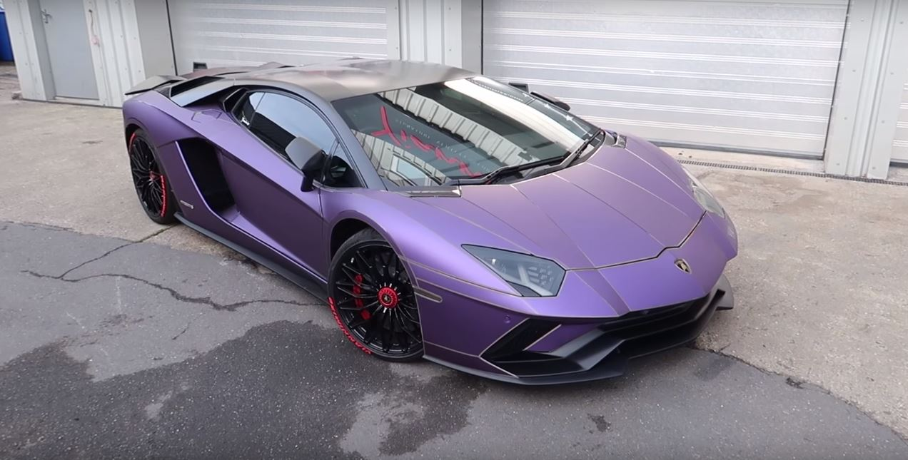Chrome Red Lamborghini Aventador S Turns Matte Purple in ...