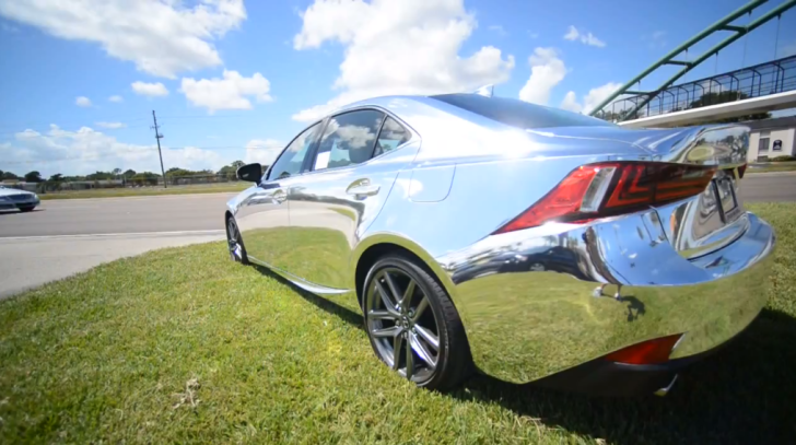 Chrome Wrapped 2014 Lexus IS Blends in the Scene [Video]