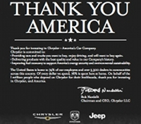 The full-page ad in USA Today