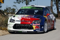 Dani Sordo on the wheel of the Citroen C4 WRC HYbrid4