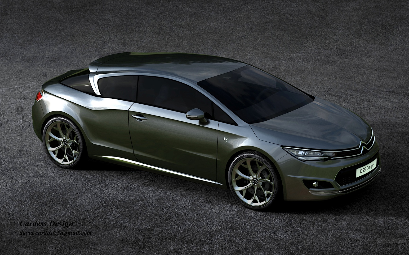 citroen ds5 coupe imagined by david cardoso autoevolution. Black Bedroom Furniture Sets. Home Design Ideas