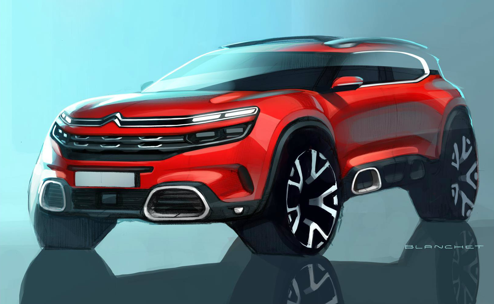 citroen previews c5 aircross and c aircross concept ahead of shanghai reveal autoevolution. Black Bedroom Furniture Sets. Home Design Ideas