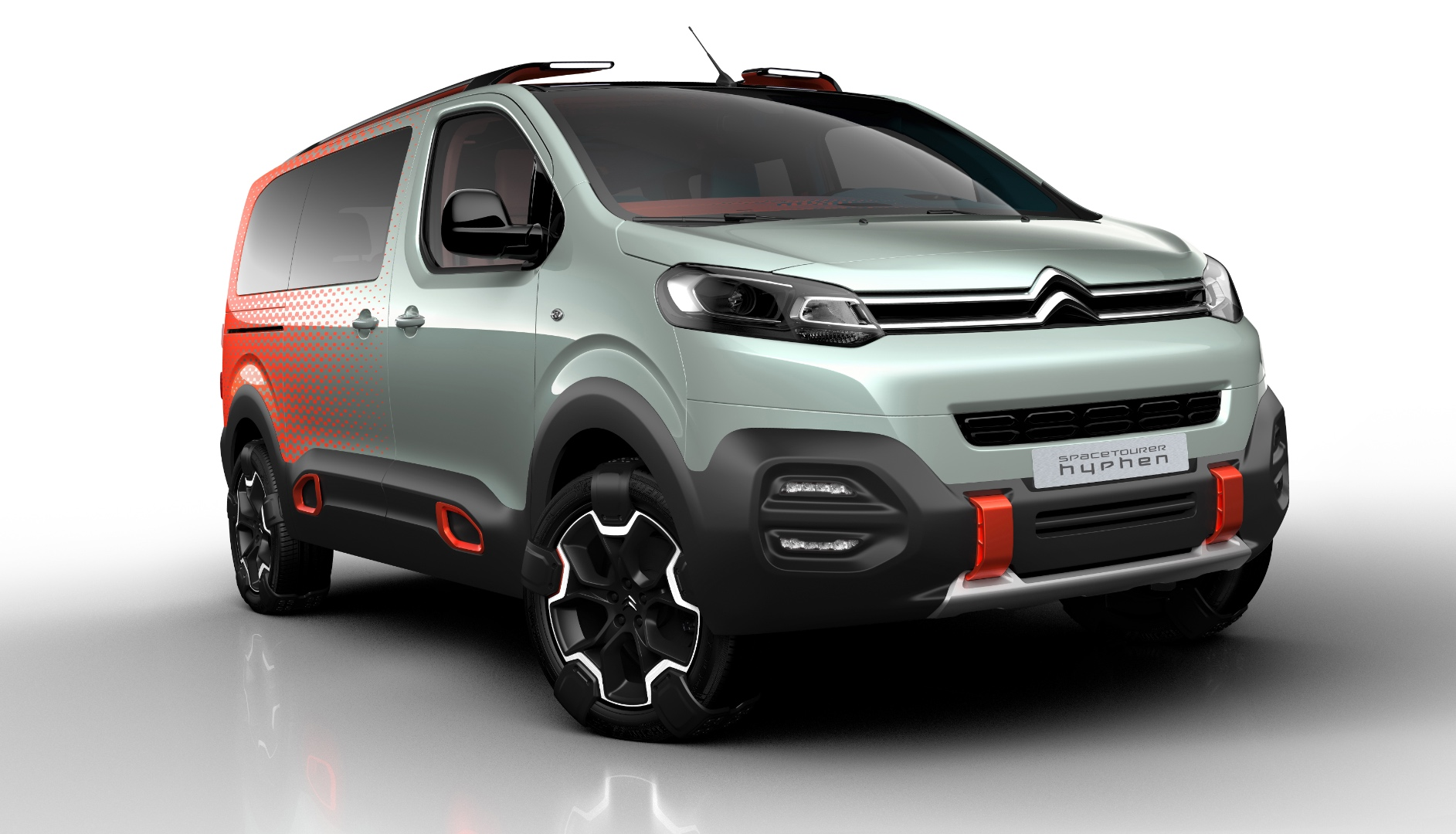 citroen reveals spacetourer hyphen concept a crazy take on an utilitarian model autoevolution. Black Bedroom Furniture Sets. Home Design Ideas