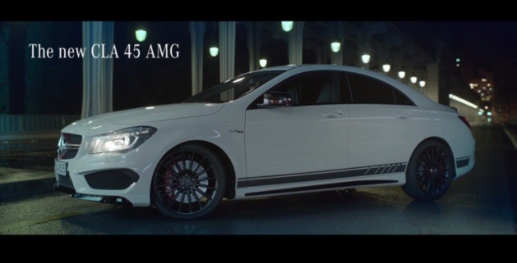 CLA 45 AMG Racing in a Deserted Paris For no Reason at All [Video]