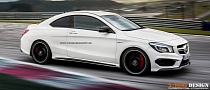 CLA 45 AMG Rendered as a Two-Door Coupe