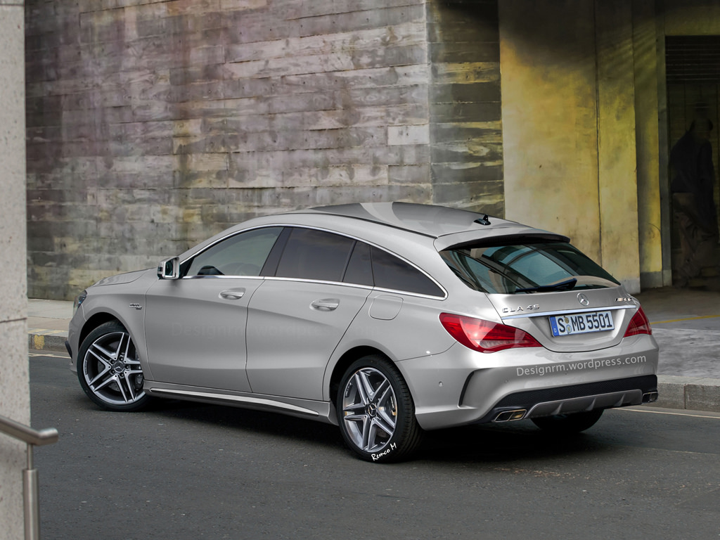 cla 45 amg shooting brake rendering looks spot on autoevolution. Black Bedroom Furniture Sets. Home Design Ideas