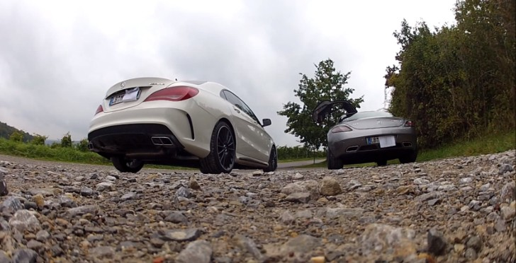 CLA 45 AMG vs SLS AMG GT Exhaust Battle [Video]