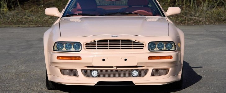 Classic Aston Martin V8 Vantage Sports Make British Racing Pink Paint Autoevolution