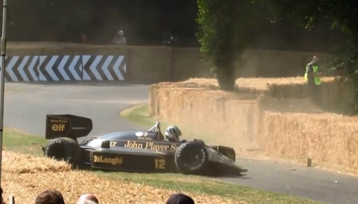 Classic Lotus 98T F1 Racer Crashed at Goodwood [Video]