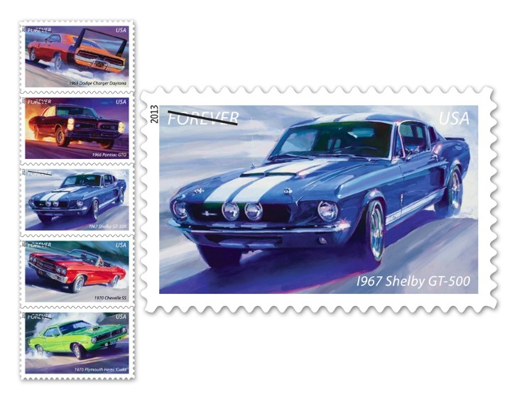 Classic Muscle Cars Featured on US Postage Stamps