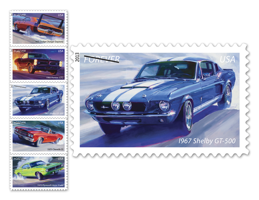 Classic Muscle Cars Featured on US Postage Stamps - autoevolution