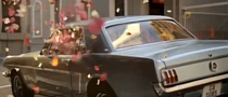 Classic Mustang Fills With Pink Petals in Lacoste Commercial [Video]