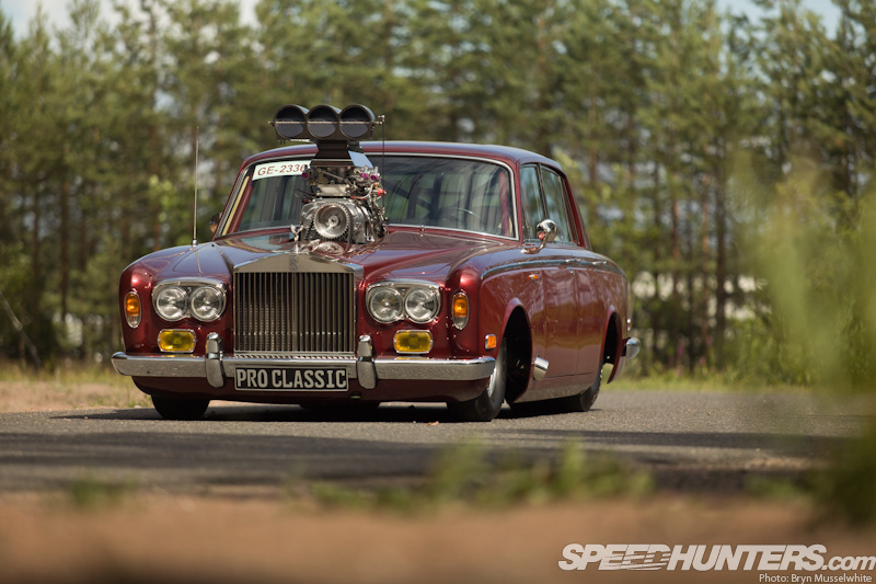 Classic rolls royce gets blown gm engine becomes luxury dragster autoevolution