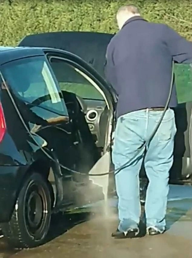 Clueless Dude Power-Washes The Inside of His Citroen C2 And