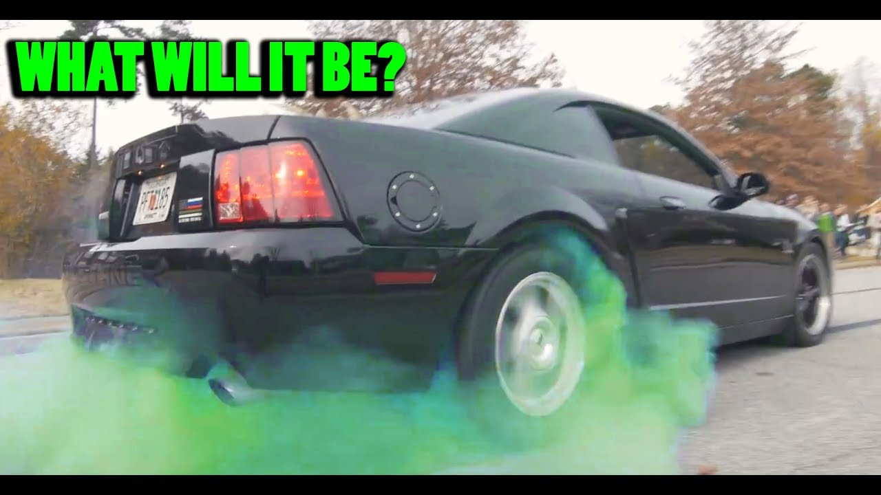 Colored Tires and a Mustang GT Burnout Make for One Hell ...