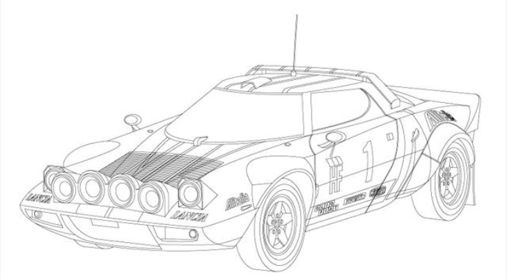 Coloring Book of Race Cars for The Little Motorist ...