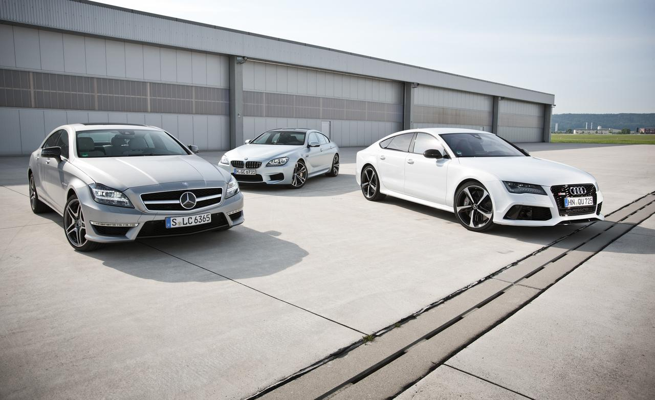 Comparison Test: BMW M6 Gran Coupe vs Audi RS7 vs Mercedes ...