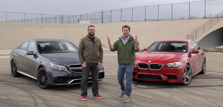 Competition BMW M5 vs Mercedes-Benz E63 AMG S Comparison Test [Video]