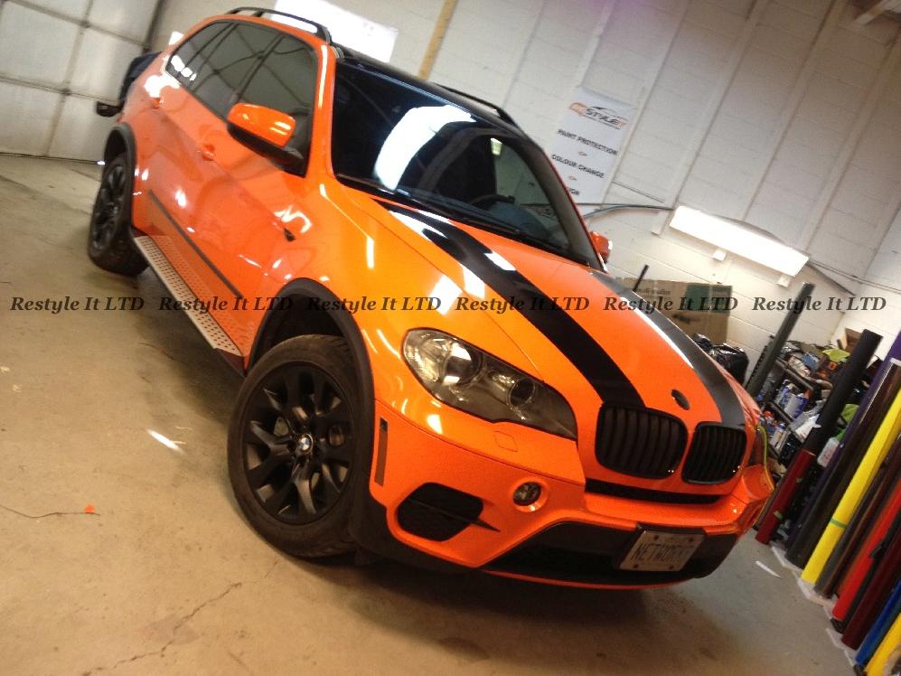 Complete Make Over Black X5 Turns Fire Orange At