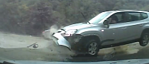 Concrete Lump Gets The Best of a Chevrolet Orlando [Video]