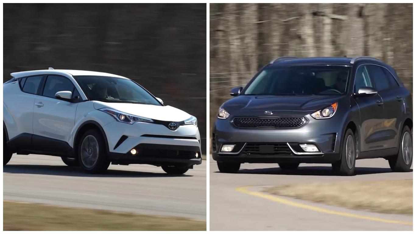 Consumer Reports Reviews Toyota C Hr And Kia Niro