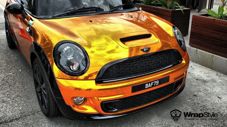Copper MINI Cooper S Wrapped