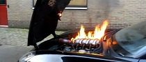 Corvette C6 Z06 Engine Catches Fire [Video]