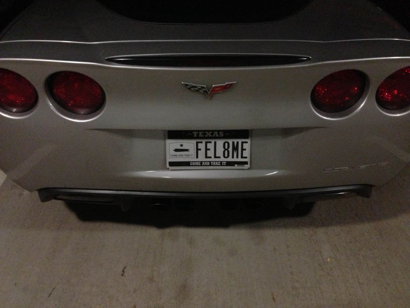Corvette Vanity Plate Talks Dirty in Texas - autoevolution