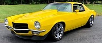 Corvette Yellow 1973 Chevrolet Camaro Matches HP with Displacement, Looks Sleek