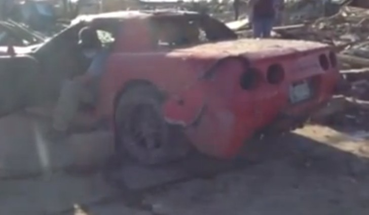Corvette Z06 Destroyed by Oklahoma Tornado Still Runs [Video]