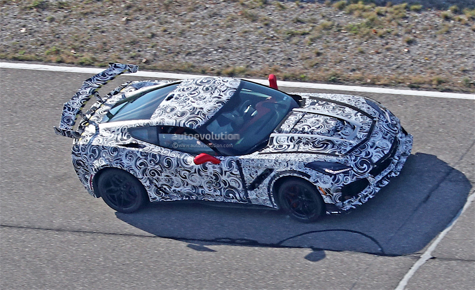 2018 Corvette ZR1 Spied With Massive Rear Wing - autoevolution