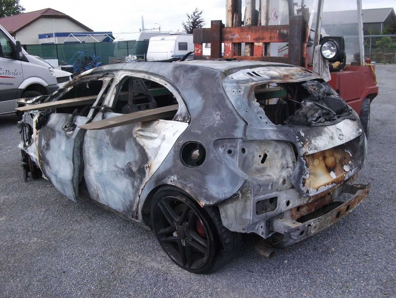 Crashed and Burned Mercedes A45 AMG Selling for €9,500 in the ...