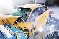 Volvo C30 electric crash test