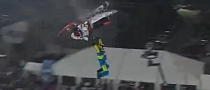 Crashing Snowmobile Misses Daniel Bodin by Inches [Video]