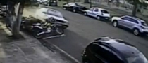 Crazy Crash Destroys 13 Motorcycles in One Second [Video]