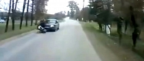 Crazy Driver Rear-Ends Biker at High Speed [Video]