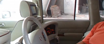Crazy Nissan Patrol from Dubai Has Steering in Middle of Back Seat [Video]