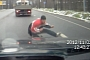 Crazy Russian Intentionally Gets Hit by Car [Video]