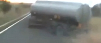 Crazy Truck Driver Drifts Tank Trailer - Achieves Extreme Angles! [Video]