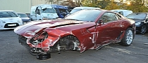 Cristiano Ronaldo's Crashed Ferrari For Sale… Again