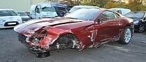 Cristiano Ronaldo's Crashed Ferrari 599 For Sale [Photo Gallery]
